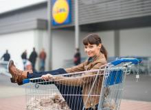 Anita Buri macht Werbung für Lidl Schweiz