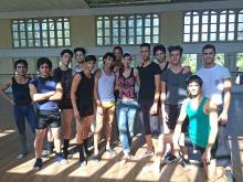 Besuch im Ballet de Camagüey, Anita mit Profitänzern